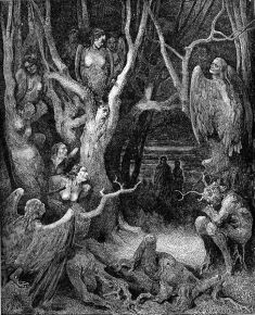 Gustave Doré - Harpies in the Forest of Suicides