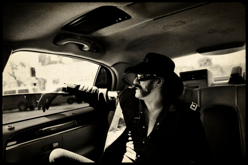 Motörhead Los Angeles, California. March 2010. Lemmy Kilmister in a Limo going to the Revolver Golden God awards, where he received that night the Golden God Lifetime Achivement Award. Motörhead, originally called Bastard, is a long-lived and iconic heavy metal band from England formed in 1975. They are widely recognized as progenitors of thrash metal, a fusion of heavy metal and what was soon to become hardcore punk. Consequently they influenced countless rock, punk rock, and heavy metal bands that followed. The actual band members are: Lemmy Kilmister- Bass and vocals, Phil Campbell- Lead guitar and Backup vocals and Mikkey Dee at the Drums.