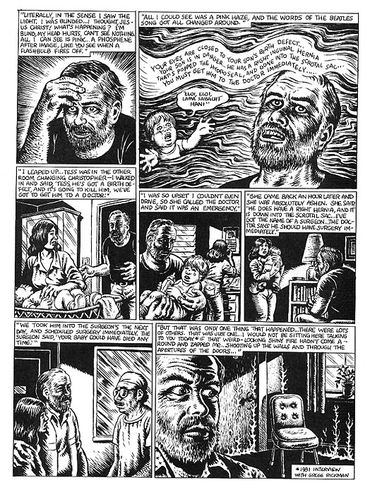 The Religious Experience of Philip K. Dick by R. Crumb from Weirdo #17 4