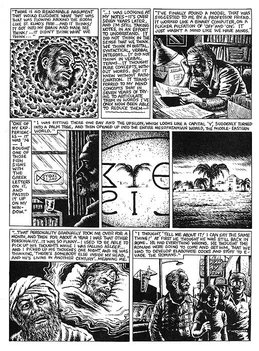 The Religious Experience of Philip K. Dick by R. Crumb from Weirdo #17 5