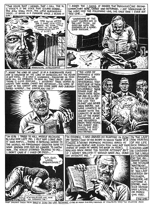 The Religious Experience of Philip K. Dick by R. Crumb from Weirdo #17 8